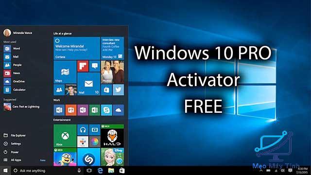 Danh sách Share Key Active Windows 10 Pro