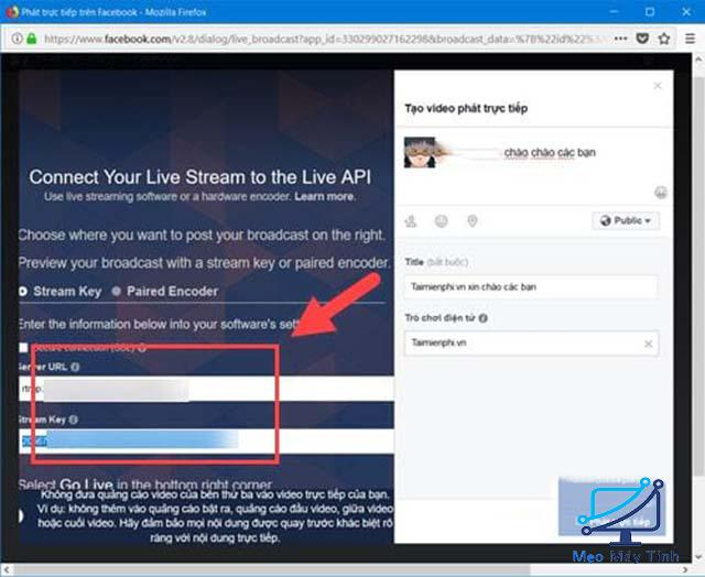 Hướng dẫn sử dụng OBS live stream Facebook