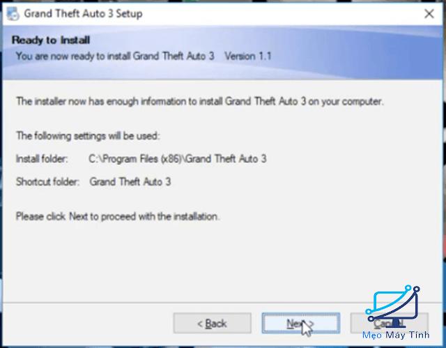 cách cài đặt game GTA 3 full crack bước 7