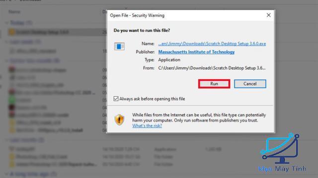 cài đặt phần mềm Scratch 3.0 bước 3