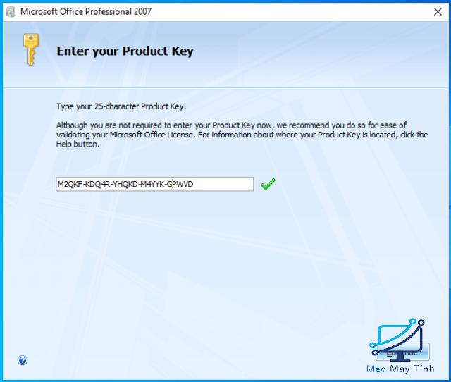 cài đặt Microsoft Office 2007 bước 3