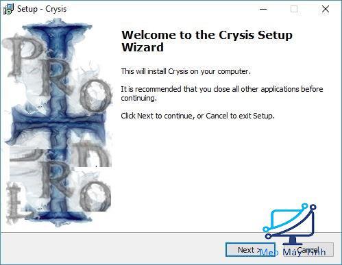 cài đặt game Crysis 1 bước 3