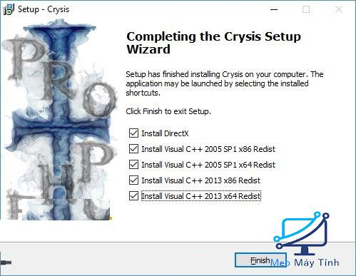 cài đặt game Crysis 1 bước 4