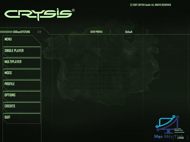 Hướng dẫn crack game Crysis 1 bước 2