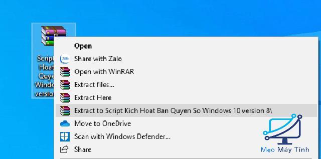 Active Win 10 CMD bằng Script -1