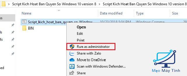 Active Win 10 CMD bằng Script -2