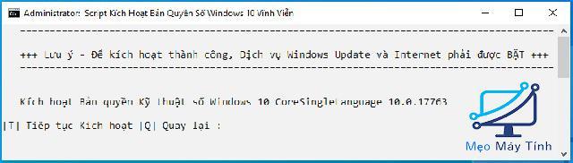 Active Win 10 CMD bằng Script -4