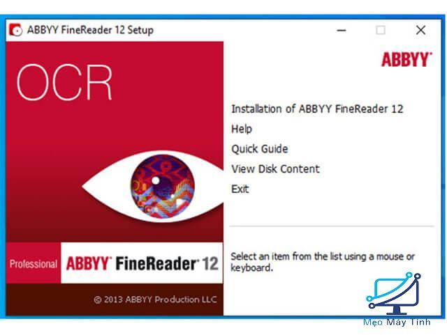 Cách cài đặt phần mềm ABBYY FineReader 12 bước 2