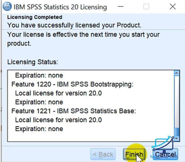 Hướng dẫn cách kích hoạt bản quyền SPSS 20 bước 8