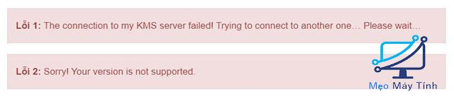 Lỗi thường gặp khi kích hoạt Win 10 bằng CMD