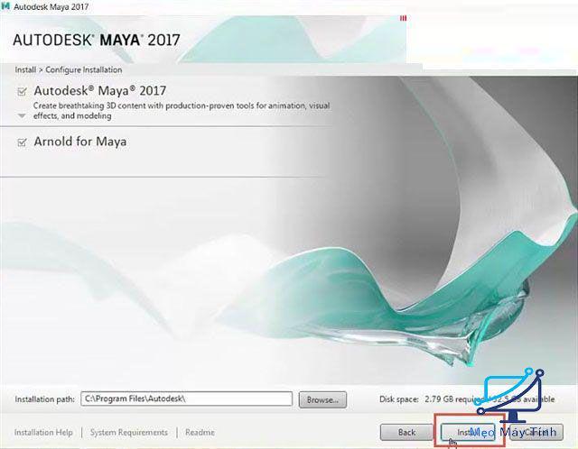 cài đặt Autodesk Maya 2017-3