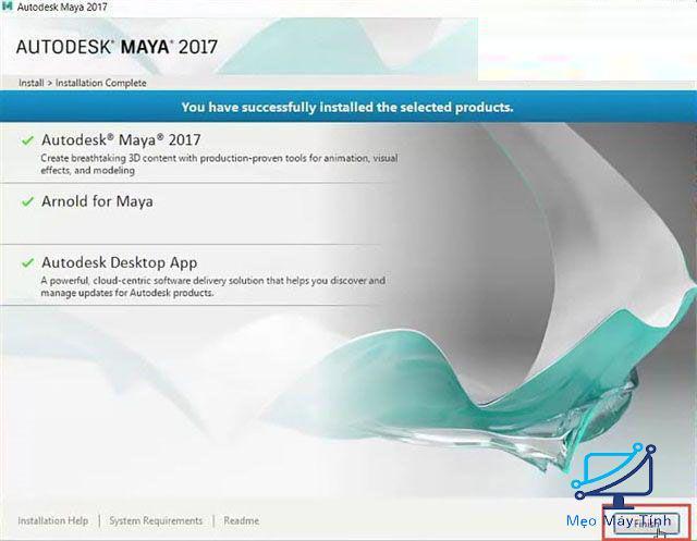 cài đặt Autodesk Maya 2017-4